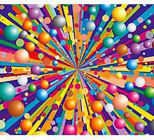 Colorful explode Photographic Print