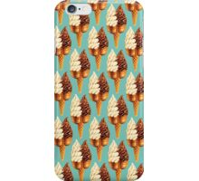 Twin Cone Pattern - Teal iPhone Case/Skin