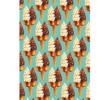 Twin Cone Pattern - Teal Photographic Print