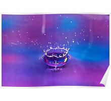 Purple Water Drop 1 Poster