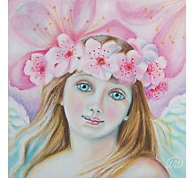 Cherry Blossom Angel  Photographic Print