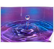 Purple Water Drop 2 Poster