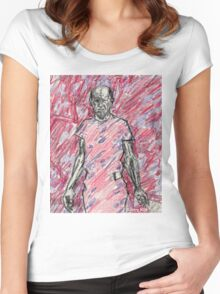 'Energy Made Real (Portrait of Jackson Pollack)' Women's Fitted Scoop T-Shirt