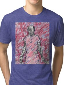 'Energy Made Real (Portrait of Jackson Pollack)' Tri-blend T-Shirt