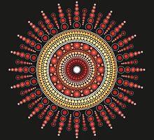 Red Star Burst by SACREDMANDALA
