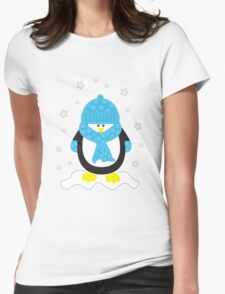 Baby It's Cold Outside [Boy Penguin] Womens Fitted T-Shirt