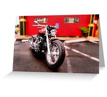 Red harley Greeting Card