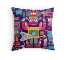 vector band and musicians  Throw Pillow