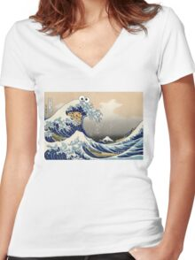 Sea is for Cookie.  Women's Fitted V-Neck T-Shirt