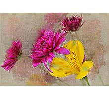 Fresh Flowers Painted Photographic Print