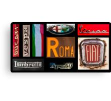 Italian Brands Canvas Print