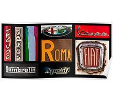 Italian Brands Poster