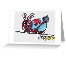 The Amazing Spider-Bunny! Greeting Card