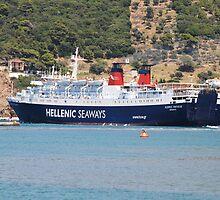 Ferry departure, Skopelos by David Fowler