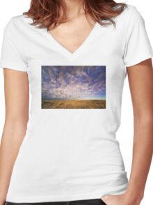 Painted Sky Women's Fitted V-Neck T-Shirt