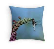 Blue chaser Throw Pillow