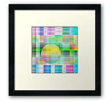 Fading Shapes in Pastel Colours Framed Print