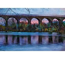 Viaduct at Reddish Vale Country Park Photographic Print