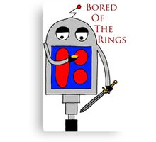 Bored of the Rings Canvas Print