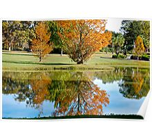 Lake Reflection in the Fall Poster