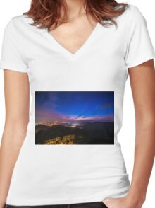Japan Nights Women's Fitted V-Neck T-Shirt
