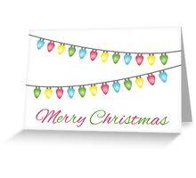 Colorful Christmas Lights Greeting Card