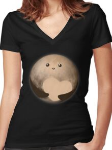 Cutie Pluto Women's Fitted V-Neck T-Shirt