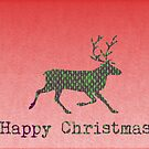 Happy Christmas reindeer by Emma Harckham
