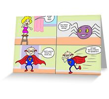 Eric Vs Spiders Greeting Card