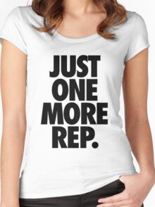 JUST ONE MORE REP. Women's Fitted Scoop T-Shirt