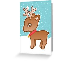 Cute Christmas Reindeer Greeting Card