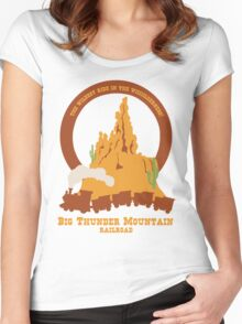 Big Thunder Mountain Railroad Women's Fitted Scoop T-Shirt