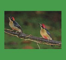 Pair of Black-Cheeked Woodpeckers Kids Clothes