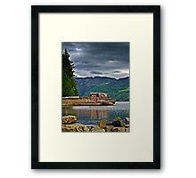 Abandoned Boat On Loch Ness. Framed Print