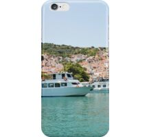 Skopelos Town harbour, Greece iPhone Case/Skin