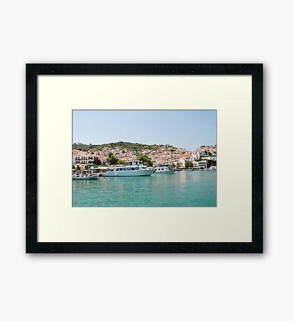Skopelos Town harbour, Greece Framed Print