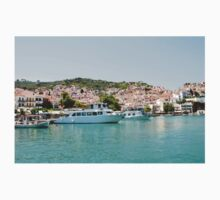 Skopelos Town harbour, Greece Kids Tee