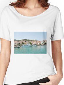 Skopelos Town harbour, Greece Women's Relaxed Fit T-Shirt