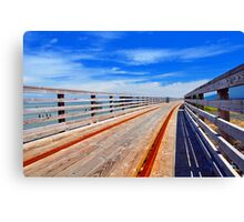 Trolley Tracks Canvas Print