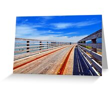 Trolley Tracks Greeting Card