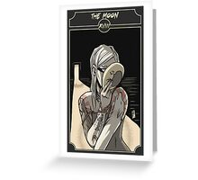 The Moon - Sinking Wasteland Tarot Greeting Card