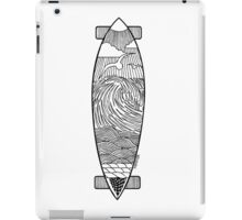 Longboard Wave T Shirt iPad Case/Skin