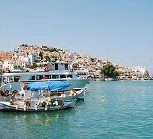 Skopelos harbour, Greece by David Fowler
