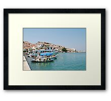 Skopelos harbour, Greece Framed Print