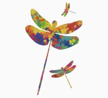 Dragonfly Watercolor Art One Piece - Long Sleeve