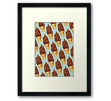 Chocolate Dip Cone Pattern Framed Print