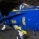 #7 Blue Angel in hanger by Henry Plumley