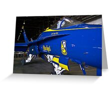 #7 Blue Angel in hanger Greeting Card