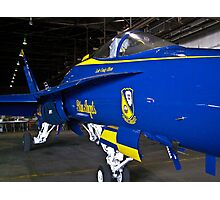 #7 Blue Angel in hanger Photographic Print