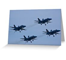 """Blue Angels """"dirty"""" Diamond formation Greeting Card"""